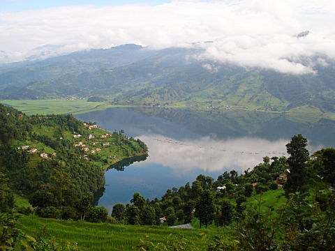 Fewa Lake Pokhara as seen from top