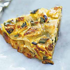 Herbed Summer Squash and Potato Torte with Parmesan