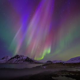 Aurora in Kolgrafarfjordur by Palmi Vilhjalmsson - Landscapes Starscapes ( iceland, snæfellsnes, aurora borealis, aurora, kolgrafarfjordur )