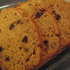 Pumpkin Raisin Walnut Quick Bread