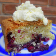 Melt-In-Your-Mouth Blueberry Cake, with a Lemon Cream