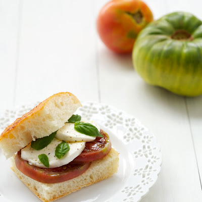 Heirloom Tomato Caprese Sandwiches