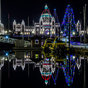 Victoria christmas by Doug Clement - Buildings & Architecture Public & Historical ( lights, winter, christmas, night, victoria, decoration, object )