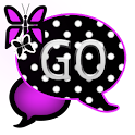 GO SMS THEME/PurpPolkaDot icon