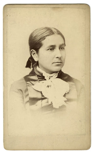 Insta Theamba (Bright Eyes) or Susette LaFlesche, ca. 1880