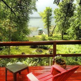 A Day at the Lake... by Andrew Lonergan - Landscapes Forests ( cabin, minnesota, lifestyle, summer, lake )