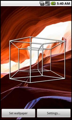 Hypercubed Live Wallpaper