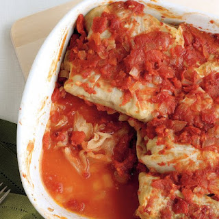 Stuffed Cabbage with Beef and Rice