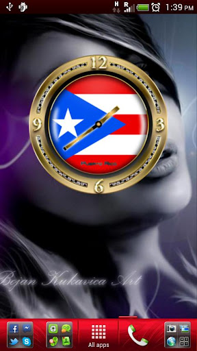 PUERTO RICO GOLD Clock Widget