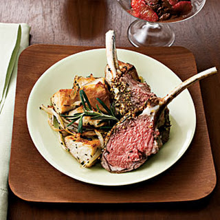 Herb-Crusted Rack of Lamb With Rosemary Potatoes