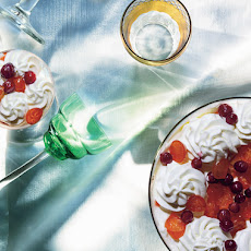 Gingerbread Trifle with Candied Kumquats and Wine-Poached Cranberries