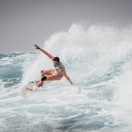 cut back by Guy Henderson - Sports & Fitness Surfing ( la santa, surfing, lanzarote, surf, big waves )