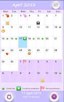 Screenshot of Menstrual Calendar