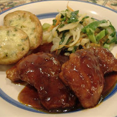 Braised and Barbecued Chicken Thighs