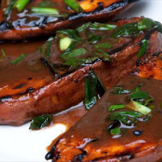 Grilled Sweet Potato and Scallion Salad