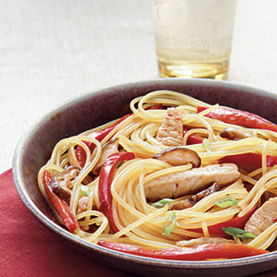 Teriyaki Pork and Vegetables with Noodles