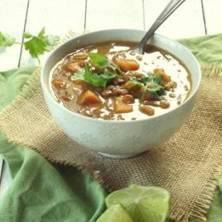 Curried Lentil Sweet Potato Soup