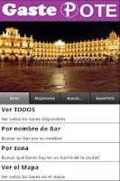 Screenshot of GastePOTE Salamanca