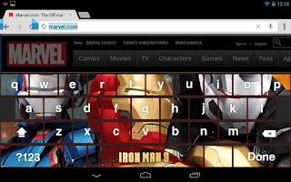 Screenshot of Iron Man 3 Keyboard