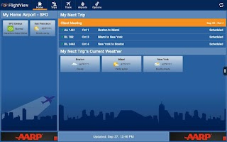 Screenshot of FlightView Free Flight Tracker