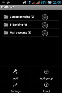 FortKnox 2 password manager - screenshot