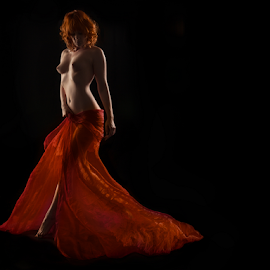 Fiery Nude by Marie Otero - Nudes & Boudoir Artistic Nude ( www.lostaussie.com, model, red, nude, red hair, color, female, artistic nude, otero )