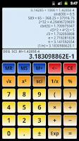 Screenshot of Scientific Calculator 3