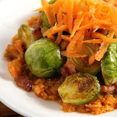 Brussels Sprouts with Kimchi and Bacon Recipe