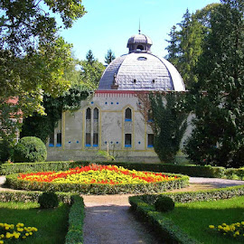 Park bath by Dajana Petković - City,  Street & Park  Historic Districts ( mineral water, public bath, park, daruvar, croatia, healing, flowers )