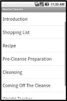 Screenshot of Master Cleanse