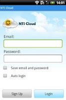 Screenshot of NTI Cloud