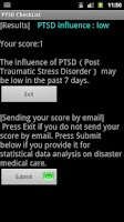 Screenshot of PTSD CheckList