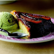 Mango Upside-Down Cake with Basil Ice Cream