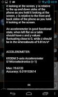 Screenshot of AndroSensor