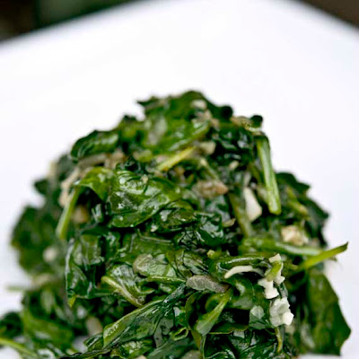 Clean Eating Garlic Spinach