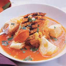 Fish Soup with Bread and Rouille