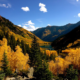 Yellow Valley by Harris Kalofonos - Landscapes Mountains & Hills