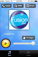 Screenshot of FUSION FM