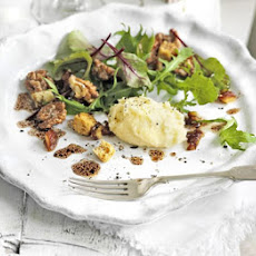 Whipped Brie salad with dates & candied walnuts