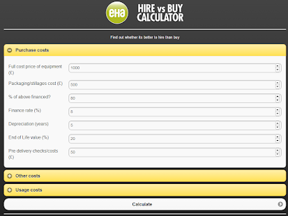 EHA - Hire vs Buy - screenshot