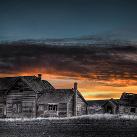 Snow Road by Eric Demattos - Buildings & Architecture Decaying & Abandoned ( sunset, feild, forgotten, abandoned, decay )