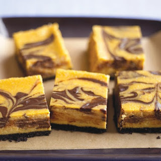 Chocolate-Pumpkin Cheesecake Bars