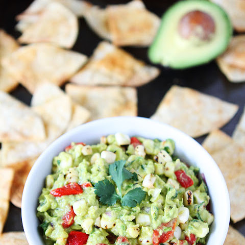 Roasted Corn & Red Pepper Guacamole