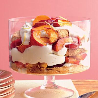 Stone-Fruit Trifle with Lemon Mousse