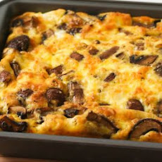 Mushroom and Feta Breakfast Casserole