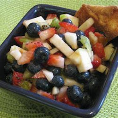 Summer Fruit Salsa with Cinnamon Crisps