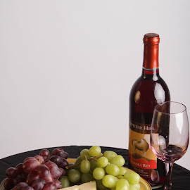 A little wine with your cheese by Kimmi Walrath Doerr - Food & Drink Alcohol & Drinks ( wine, grapes, still life, food, cheese,  )