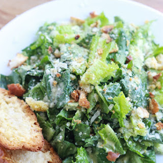 Lemony Caesar Salad with Garlic-Parmesan Toasts