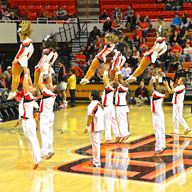 Basketball Cheerleaders by Kathy Suttles - Sports & Fitness Other Sports