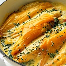 Smoked Haddock with Creme Fraiche, Chive and Butter Sauce